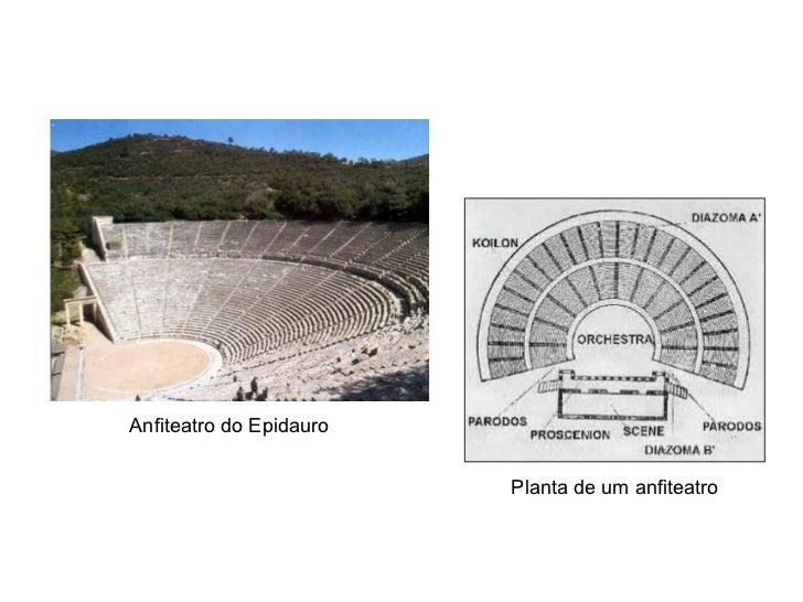 Anfiteatro do Epidauro Planta de um anfiteatro