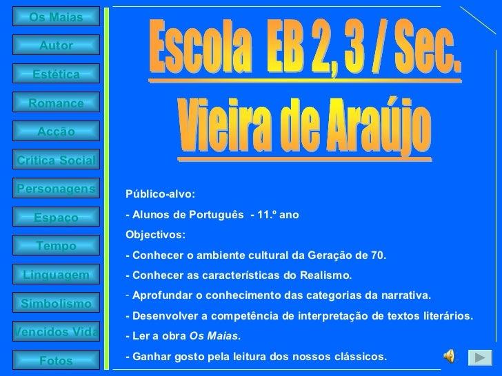 <ul><li>Público-alvo: </li></ul><ul><li>- Alunos de Português  - 11.º ano  </li></ul><ul><li>Objectivos: </li></ul><ul><li...