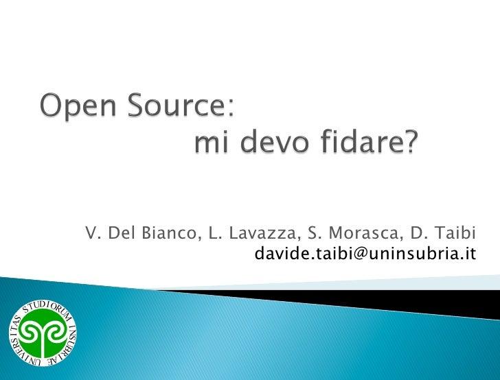 V. Del Bianco, L. Lavazza, S. Morasca, D. Taibi                      davide.taibi@uninsubria.it