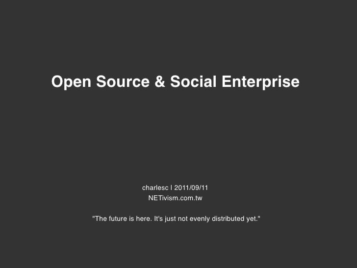 Open Source & Social Enterprise