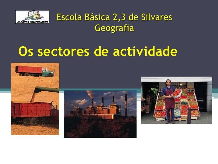 Escola Básica 2,3 de Silvares              GeografiaOs sectores de actividade
