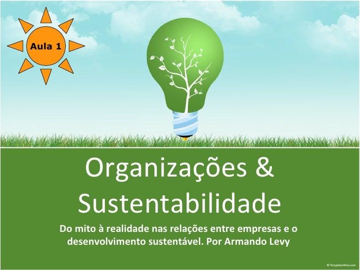 Aula 1              Organizações &          Sustentabilidade      Do mito à realidade nas relações entre empresas e o     ...