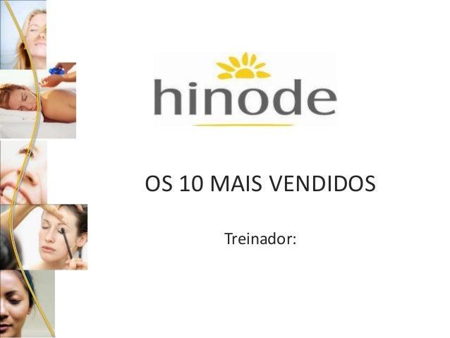 OS 10 MAIS VENDIDOS Treinador: