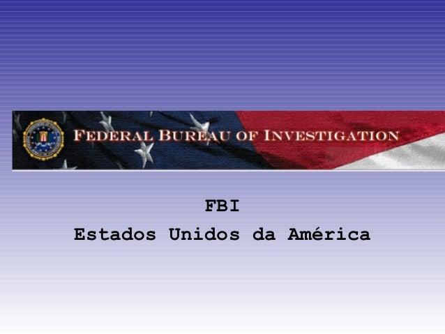 FBIEstados Unidos da América