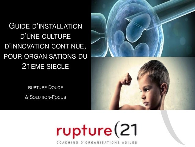 GUIDE D'INSTALLATION D'UNE CULTURE D'INNOVATION CONTINUE, POUR ORGANISATIONS DU 21EME SIECLE RUPTURE DOUCE & SOLUTION-FOCUS