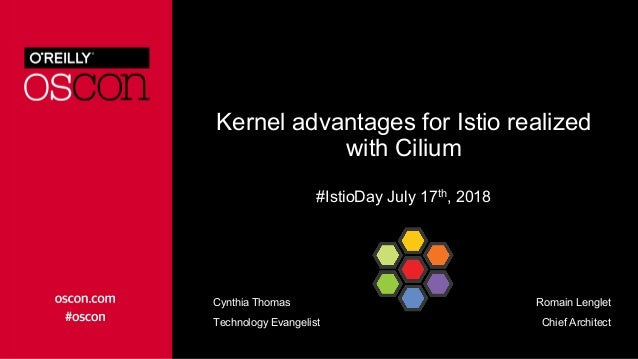Kernel advantages for Istio realized with Cilium #IstioDay July 17th, 2018 Romain Lenglet Chief Architect Cynthia Thomas T...