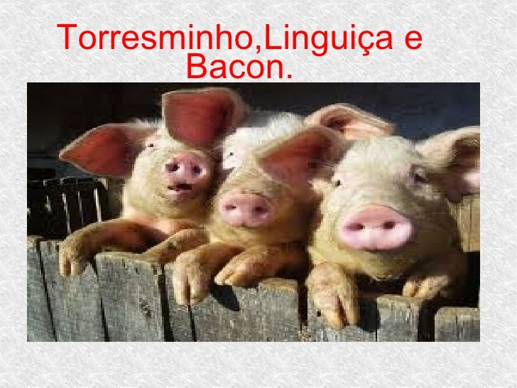 Torresminho,Linguiça e       Bacon.