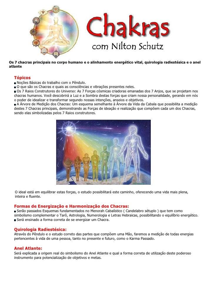 Os 7 chacras principais no corpo humano e o alinhamento energético vital, quirologia radiestésica e o anel atlante     Tóp...