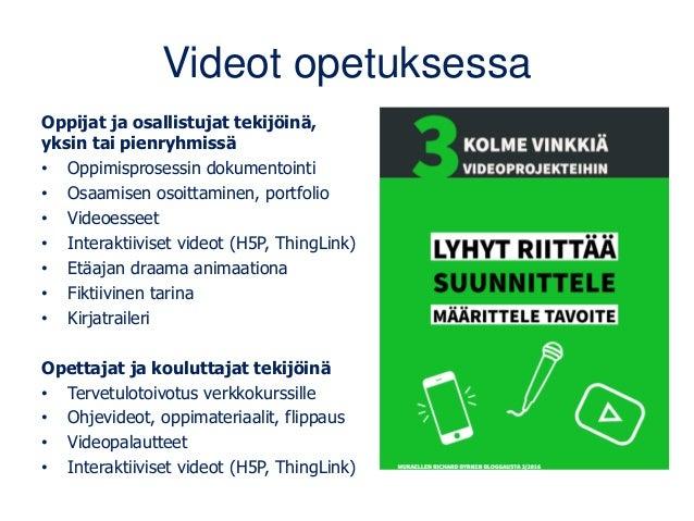 Helpota opiskelijan kognitiivista kuormaa Satu Hakanurmi: blogit.utu.fi/erappu/pedagogisesti-mielekas-video • Palastele – ...