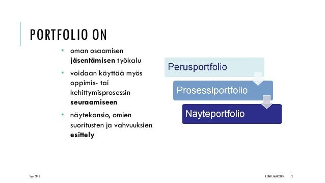 Osaamisen tunnistaminen ja ePortfolio Slide 3
