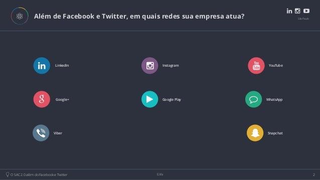 O Sac 2.0 além do Facebook e Twitter Slide 2