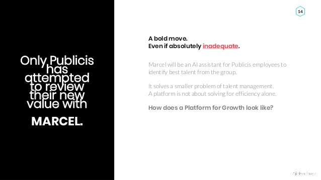 Ajinkya Pawar 14 Only Publicis has attempted to review their new value with MARCEL. Marcel will be an AI assistant for Pub...