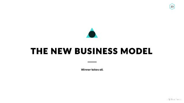 Ajinkya Pawar 23 THE NEW BUSINESS MODEL Winner takes all.