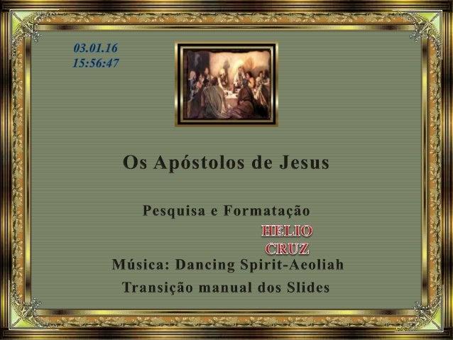 Apóstolo é uma palavra que vem do grego e que significa enviado. Então, Apóstolo é aquele que foi enviado especificamente ...