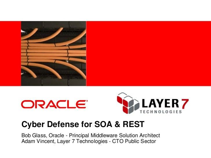 <Insert Picture Here>     Cyber Defense for SOA & REST Bob Glass, Oracle - Principal Middleware Solution Architect Adam Vi...