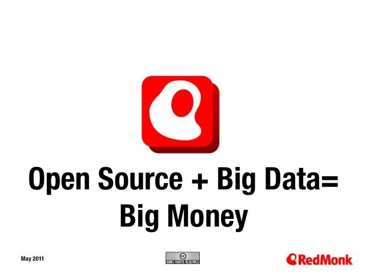 Open Source + Big Data=       Big MoneyMay 201110.20.2005