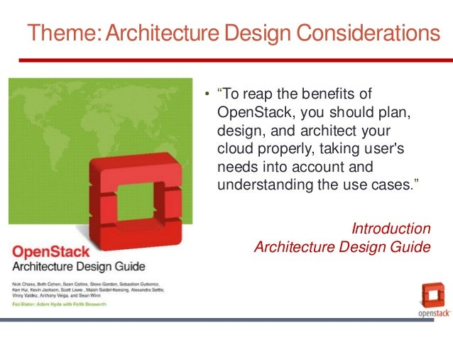 Architecture Design Guide designing openstack architectures
