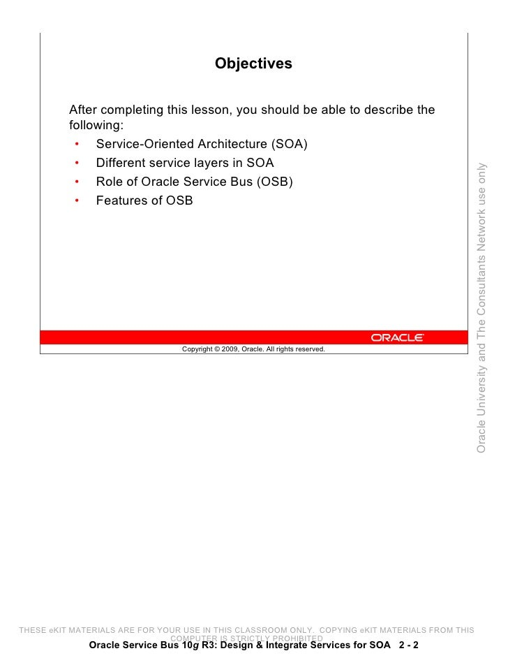 osb student guide rh slideshare net Oracle SOA Architecture Diagram Oracle SOA Logo