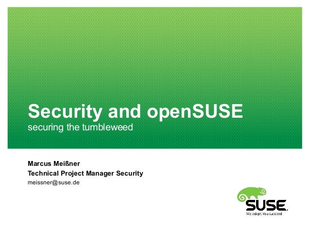 opensuse conference 2015: security processes and