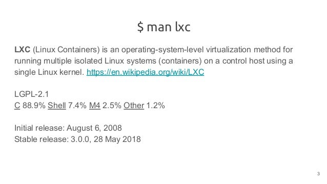 Linux Containers (LXC)