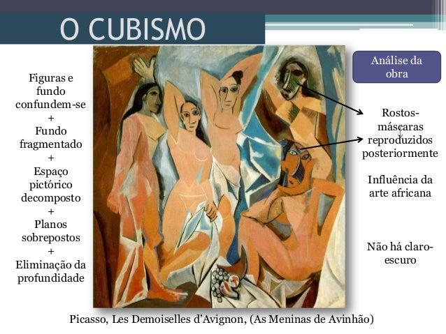 O CUBISMOPicasso, Les Demoiselles d'Avignon, (As Meninas de Avinhão)Figuras efundoconfundem-se+Fundofragmentado+Espaçopict...