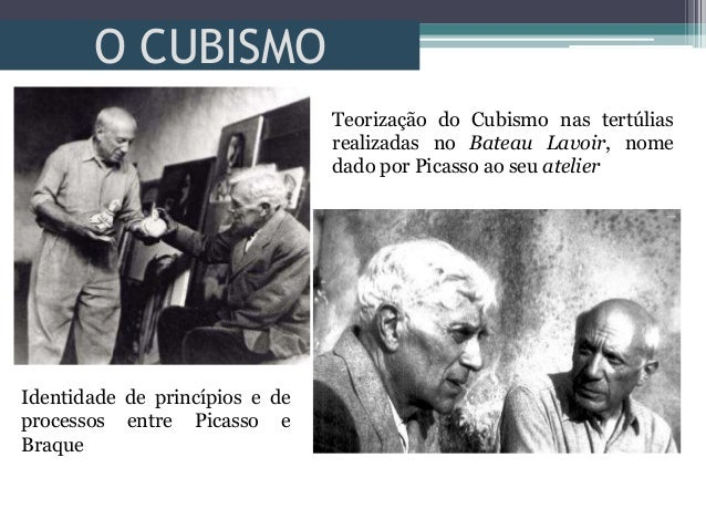 O CUBISMOTeorização do Cubismo nas tertúliasrealizadas no Bateau Lavoir, nomedado por Picasso ao seu atelierIdentidade de ...