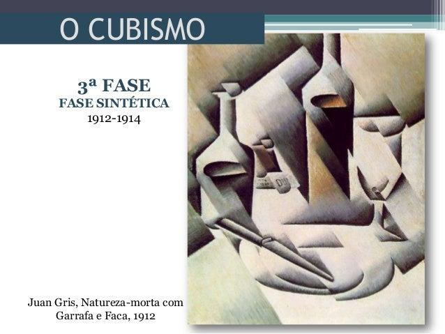 O CUBISMOJuan Gris, Natureza-morta comGarrafa e Faca, 19123ª FASEFASE SINTÉTICA1912-1914