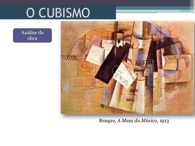 O CUBISMOBraque, A Mesa do Músico, 1913