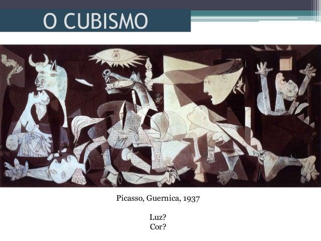O CUBISMOPicasso, Guernica, 1937Luz?Cor?