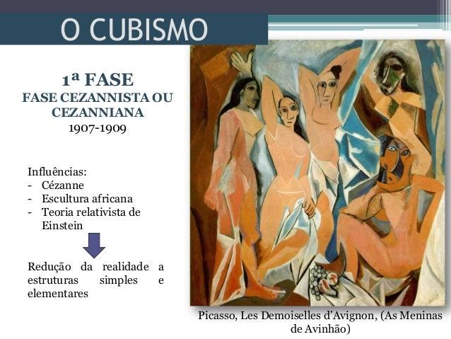 O CUBISMOPicasso, Les Demoiselles d'Avignon, (As Meninasde Avinhão)1ª FASEFASE CEZANNISTA OUCEZANNIANA1907-1909Influências...