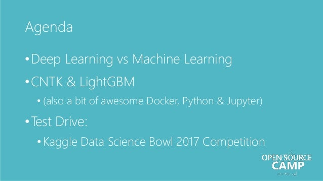 Open Source Deep Learning & Machine Learning with Microsoft