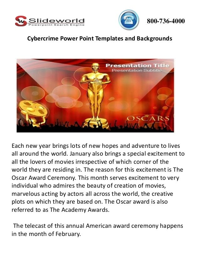 oscar award powerpoint template and background, Presentation templates