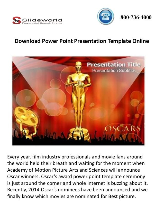 Download oscar award power point template online toneelgroepblik Choice Image