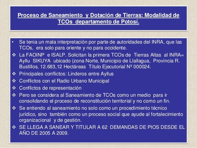 Las perspectivas de las TCO en el departamento de Potosí  Slide 3