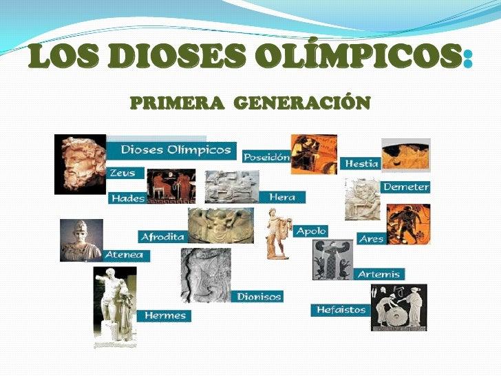 LOS DIOSES OLÍMPICOS:PRIMERAGENERACIÓN<br />