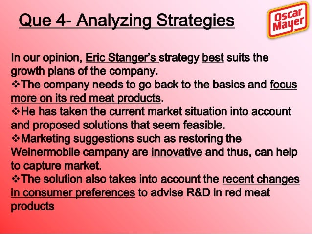 oscar mayer strategic marketing planning case solution Oscar mayer: strategic marketing planning case analysis, oscar mayer: strategic marketing planning case study solution, oscar mayer: strategic marketing planning xls file, oscar mayer.