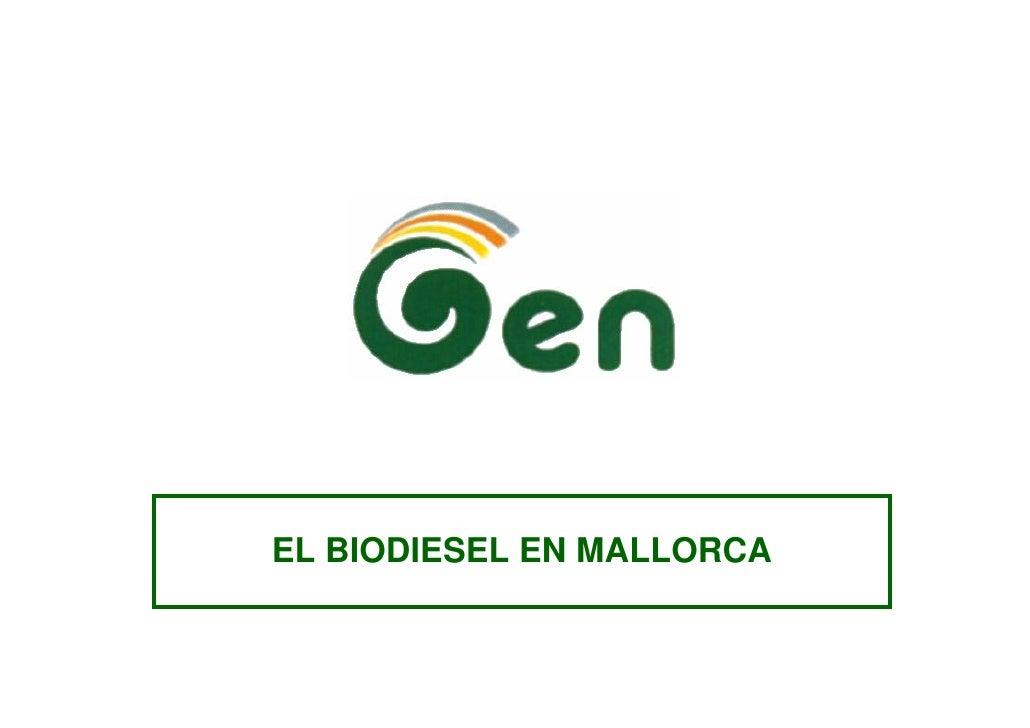 EL BIODIESEL EN MALLORCA