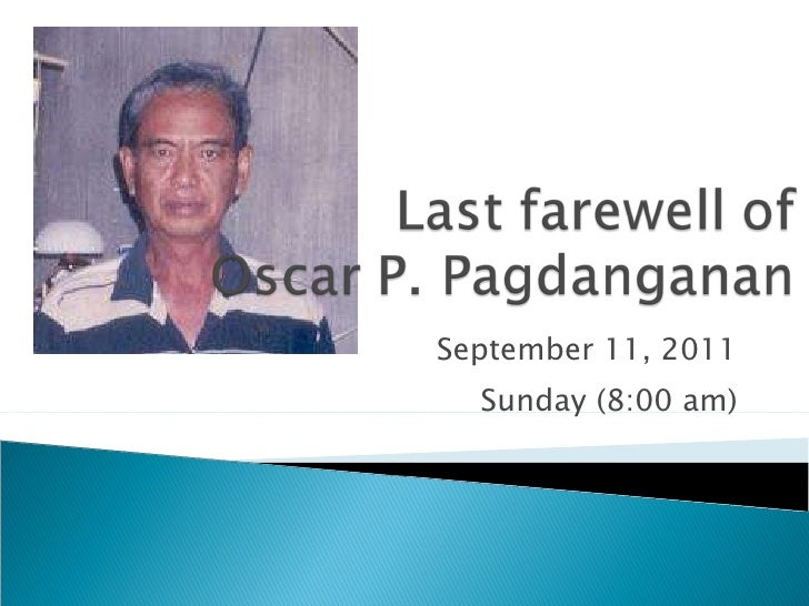 September 11, 2011 Sunday (8:00 am)