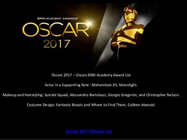 Oscars 2017 winner list 89th oscars academy award - Academy awards 2017 download ...