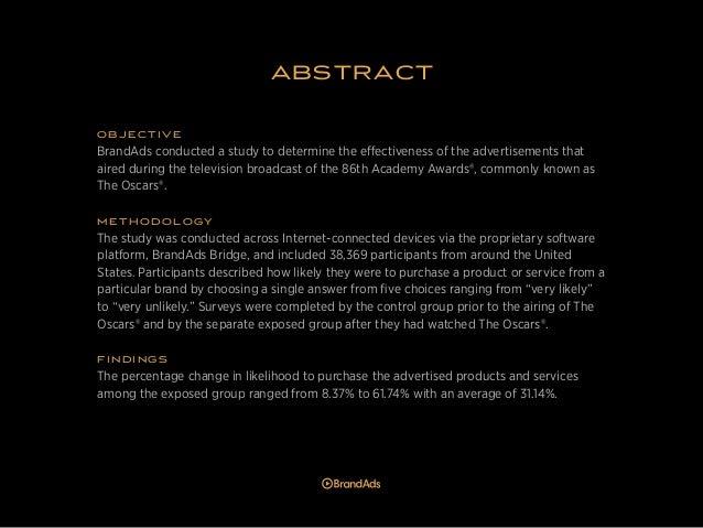 Oscars Ad Effectiveness Study Slide 2