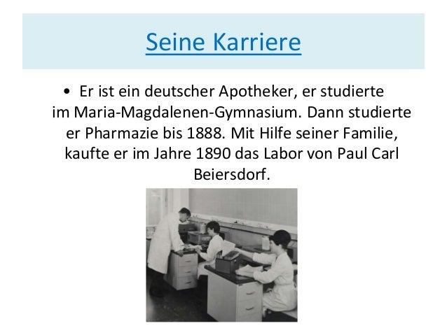 Seine Karriere • Er ist ein deutscher Apotheker, er studierte im Maria-Magdalenen-Gymnasium. Dann studierte er Pharmazie b...