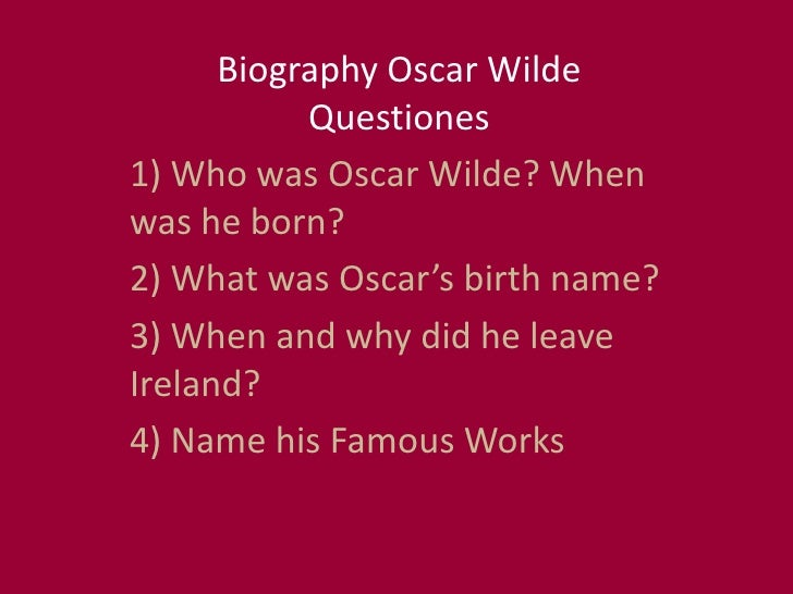 A biography of oscar fingal oflahertie wills wilde an irish novelist