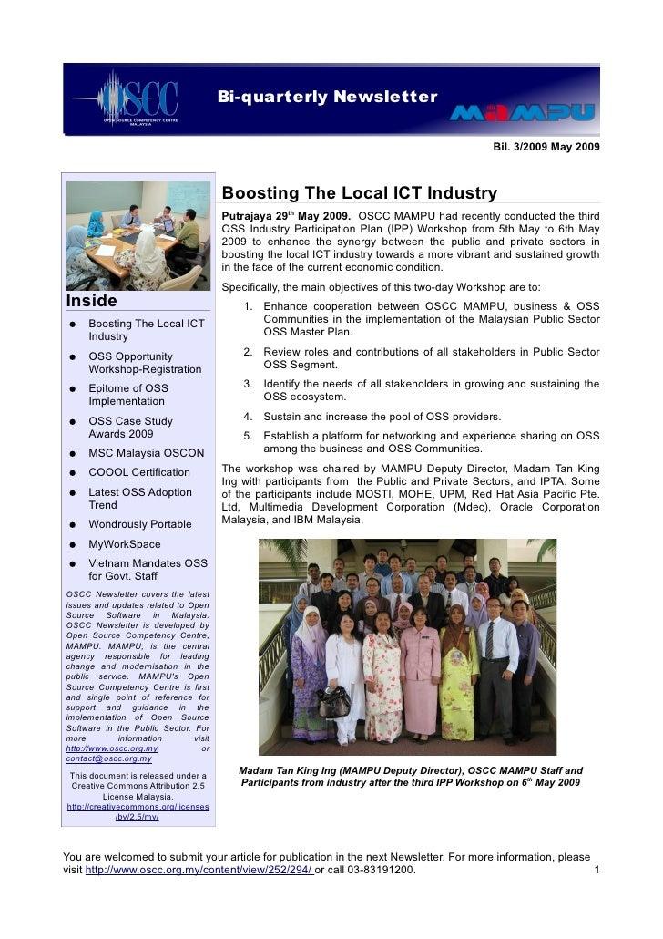 Bi-quarterly Newsletter                            OSCC Quarterly Newsletter                                              ...