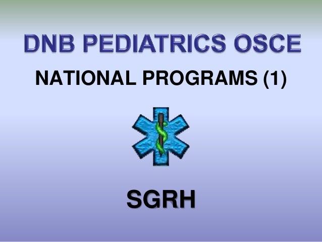 NATIONAL PROGRAMS (1)       SGRH