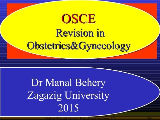 Operational Obstetrics & Gynecology · Bureau of Medicine and Surgery · 2000 Slide 1 Dr Manal Behery Zagazig University 201...