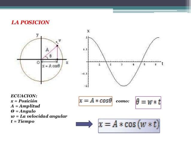LA POSICION                           x                                       tECUACION:x = Posición                   com...