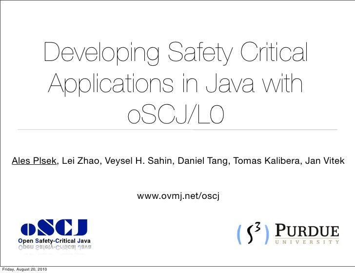 oSCJ : Safety Critical Java Virtual Machine Development