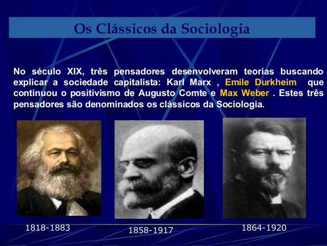 Sociologia Os clássicos da sociologia -Prof.Altair Aguilar.