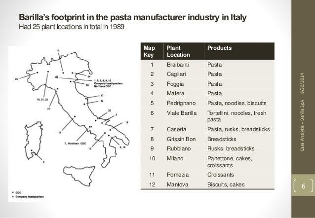 barilla spa an italian pasta manufacturer Barilla spa case study barilla was the largest pasta manufacturer in the • world the italian pasta market was estimated at 35 trillion lire.