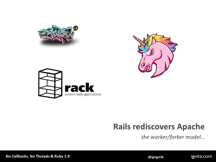 Rails rediscovers Apache<br />the worker/forker model… <br />